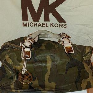 Michael Kors camouflage satchel